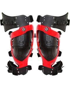 Asterisk Cell Red Knee Brace Pair