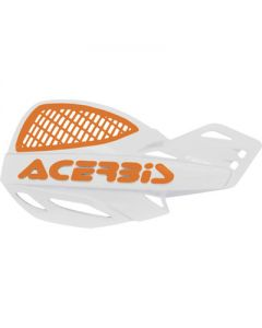 Acerbis Uniko Vented Handguards - White /Orange