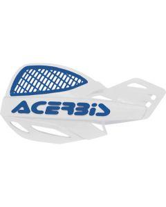 Acerbis Uniko Vented Handguards - White /Blue