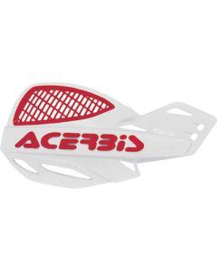 Acerbis Uniko Vented Handguards - White /Red