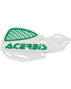 Acerbis Uniko Vented Handguards - White /Green
