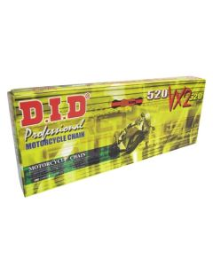 D.I.D 520 VX2 Gold/Black Pro-Street X-ring Motorcycle Chain