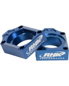 RHK Yamaha YZ250F/450F 09-13 Blue Axle Blocks