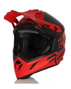ACERBIS HELMET STEEL CARBON RED /BLACK