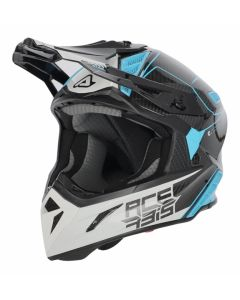 ACERBIS HELMET STEEL CARBON WHITE /BLUE
