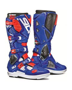 Sidi Crossfire 3 Srs Blue/Fluro Red Boots