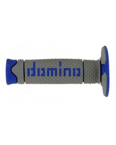 Domino Soft MX Grips - Grey /Blue