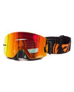 NFXS Black/Orange Split - Red Ion Goggles