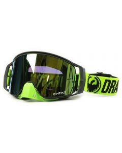 NFX2 Break Black/Green Injected Smoke Gold Goggles