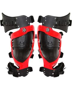 Asterisk Cell Red Knee Brace Pair