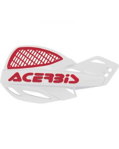 Acerbis Uniko Vented Handguards - White /Red