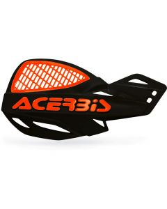 Acerbis Uniko Vented Handguards - Black/ Orange