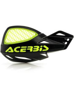 Acerbis Uniko Vented Handguards - Black/ Flo Yellow