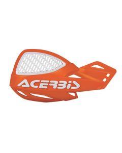 Acerbis Uniko Vented Handguards - Orange /White