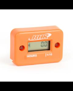 RHK Orange Hour Meter - Includes Free Mounting Bracket