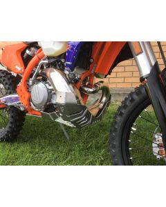 KTM 250/300 EXC 2017 – 2019 & TPI / Husqvarna TE 250 / 300 2017 – 2019 Force Bash Plate with Pipe Guard