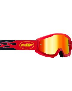 FMF POWERCORE GOGGLE FLAME RED - MIRROR RED LENS