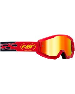 FMF POWERCORE YOUTH GOGGLE FLAME RED - MIRROR RED LENS