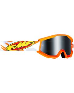 FMF POWERCORE YOUTH GOGGLE ASSAULT GREY - MIRROR SILVER LENS