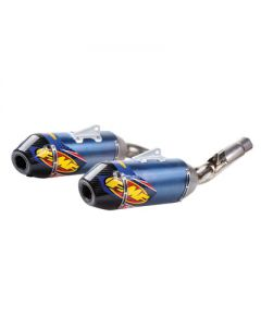 FMF Factory - 4.1 RCT Dual Anodized Titanium Silencers with Carbon End Cap - Honda CRF450R (13-16)