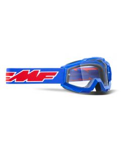 FMF POWERBOMB YOUTH GOGGLE ROCKET BLUE - CLEAR LENS