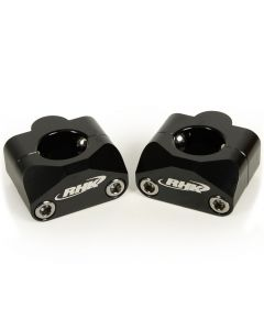 "RHK Universal Black 7/8"" To 1-1/8"" Tapered Handlebar Mounts"