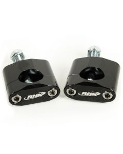 "RHK Black Handlebar Mounts 1-1/8"" Fat Bars 12mm Bolt"