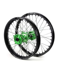 Excel Kawasaki Kxf 250/ 450 06-17 Black/ Green A60 Wheel Set