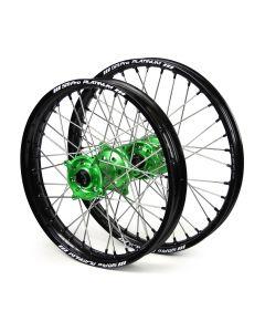 Sm Pro Kawasaki Kx250f/ Kx450f Black/ Green Platinum Wheel Set